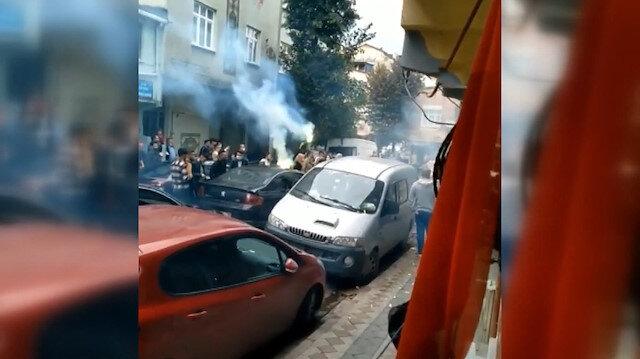 Sultangazi'de polisleri alarma geçiren düğün kamerada