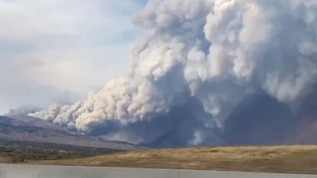 ABD'nin Colorado eyaletindeki 'Calwood' yangını böyle görüntülendi