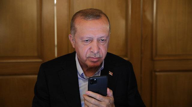 Cumhurbaşkanı Erdoğan'dan KKTC Cumhurbaşkanı Ersin Tatar'a tebrik telefonu