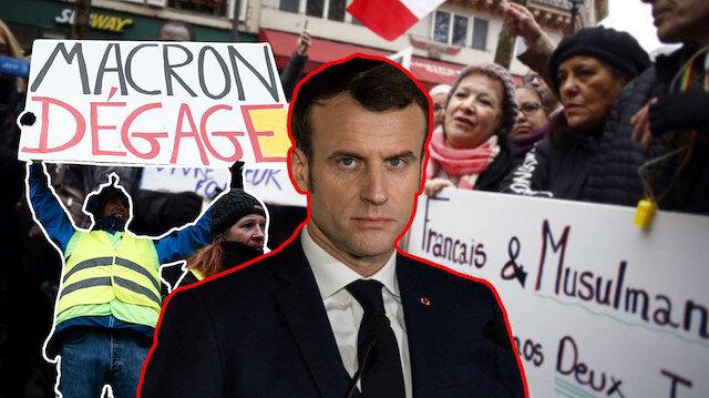 Macron hezimetinin yaralarını İslamofobiyle sarmaya çalışıyor