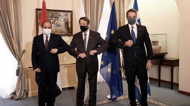 Lefkoşa'da Türkiye karşıtı zirve: Yunanistan GKRY ve Mısır iş birliği için anlaştılar
