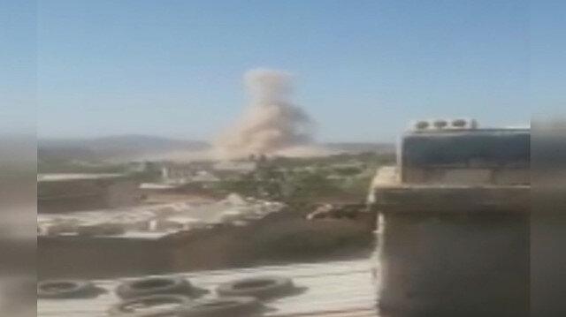 İdlib'de Rusya destekli Esed rejimi köyü bombaladı: Beş sivil yaralanırken ev ve araçlar hasar gördü
