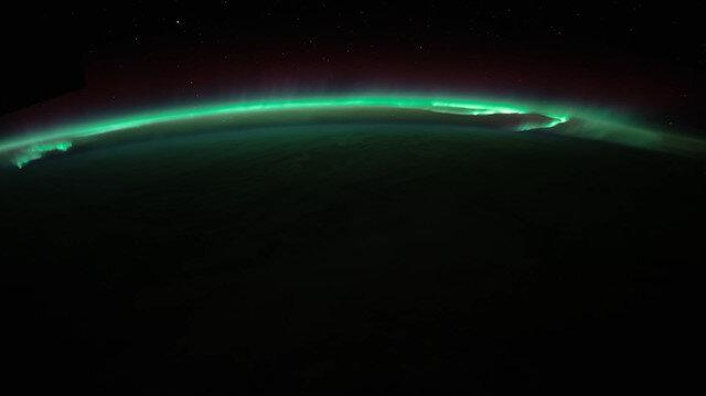Kutup ışıkları uzaydan böyle görüntülendi