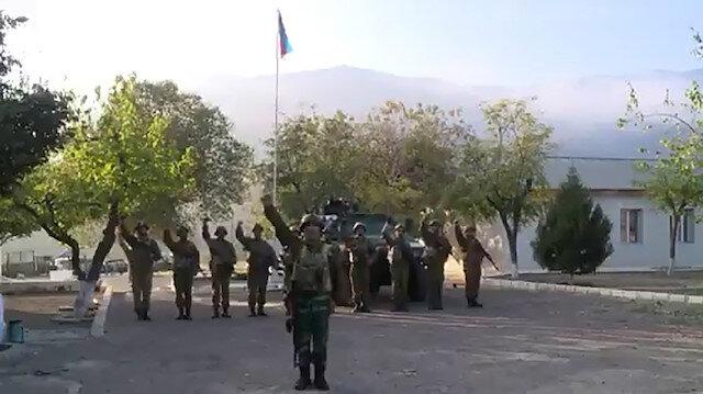 Ermenistan işgalinden kurtarılan Ağbend kasabasında Azerbaycan bayrağı göndere çekildi