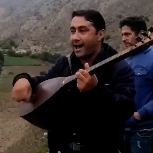 İran sınırında Azerbaycan Türklerinden sazlı sözlü kutlama