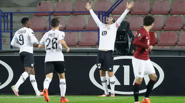 Milli futbolcu Yusuf Yazıcı Avrupa Ligi kariyerindeki ilk golünü attı