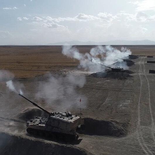 Ateş Serbest-2020: TSK ateş gücüyle dünyaya şov yaptı, hedefler tam isabetle vuruldu