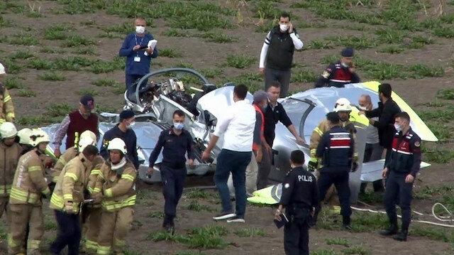 İstanbul'da bir eğitim uçağı düştü: Uçağın pilotaj lisans öğrencisi yaralı olarak kurtarıldı