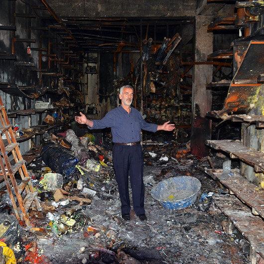 Muşlu esnafın bütün serveti küle döndü: 7 milyon lira cayır cayır yandı