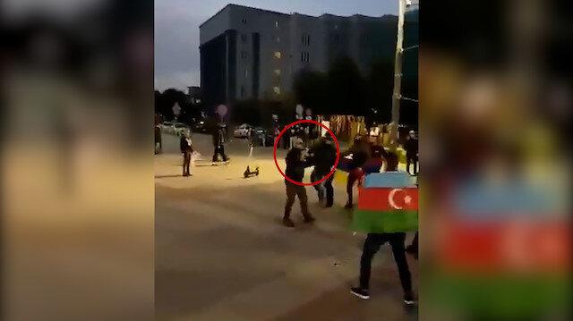 Polonya'da Ermeniler, gösteri yapan Azerbaycanlılara silah çekti!