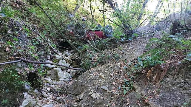 Bartın'da feci kaza: Mantar toplamaya giderken uçurumdan yuvarlandılar