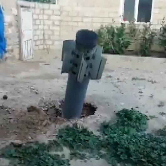 Ermenistan Azerbaycandaki sivilleri füzeyle hedef aldı: Füze bir evin bahçesine düştü