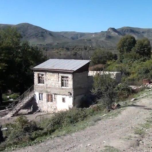 Ermenistanın işgalinden kurtarılan köyler görüntülendi