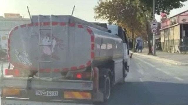Küçükçekmece'de trafikte pes dedirten görüntüler