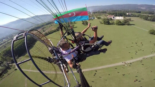 Havacılardan Azerbaycan'a destek