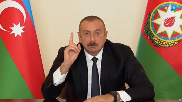 Azerbaycan Cumhurbaşkanı Aliyev, Türk F-16'larıyla dünyaya meydan okudu: Eğer bize saldırırlarsa...
