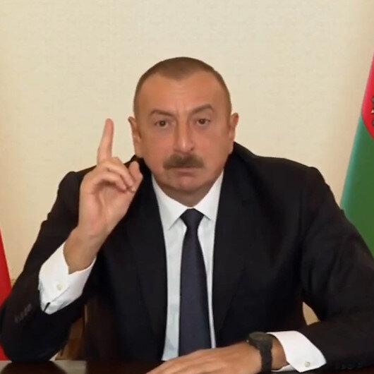 Azerbaycan Cumhurbaşkanı Aliyev, Türk F-16larıyla dünyaya meydan okudu: Eğer bize saldırırlarsa...