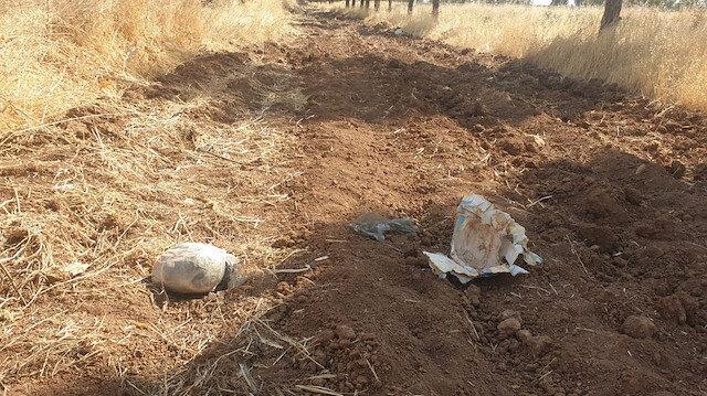 Şanlıurfa'da toprağa gömülü patlayıcı bulundu