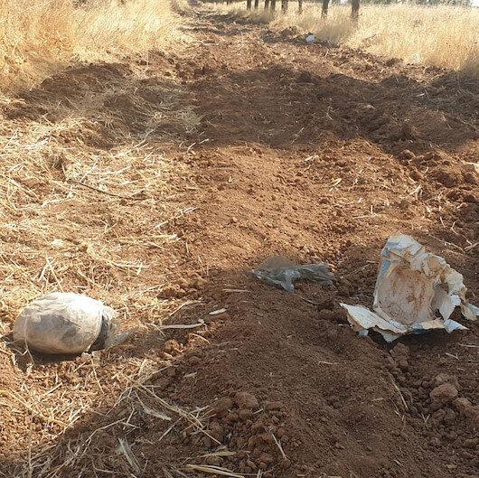 Şanlıurfada toprağa gömülü patlayıcı bulundu