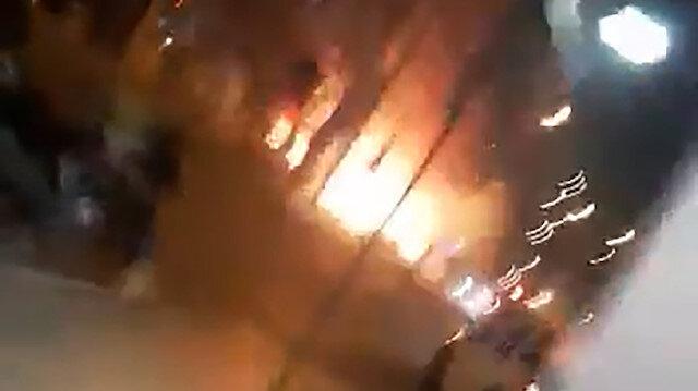 Hatay'daki çatışma ve patlama anı kameraya böyle yansıdı