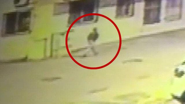 Hatay'da yakalanan teröristin kaçış anı güvenlik kamerasında