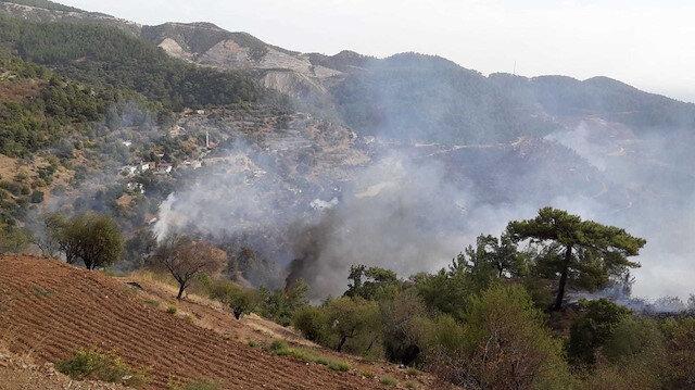 Mersin Anamur'da orman yangını: 50 hane boşaltıldı