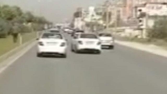 Hatay'da makas atan trafik magandası polis ekiplerinin kamerasına yakalandı