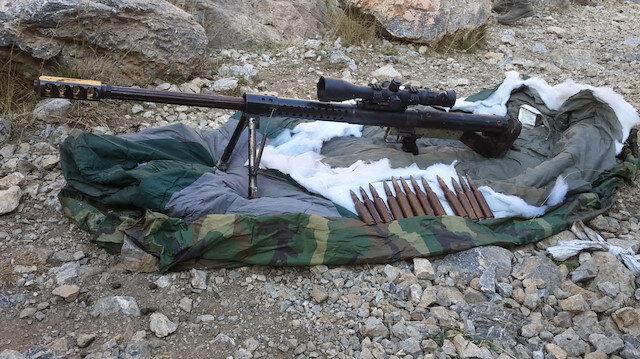 Terör inleri tek tek temizleniyor: Keskin nişancı tüfeği ele geçirildi