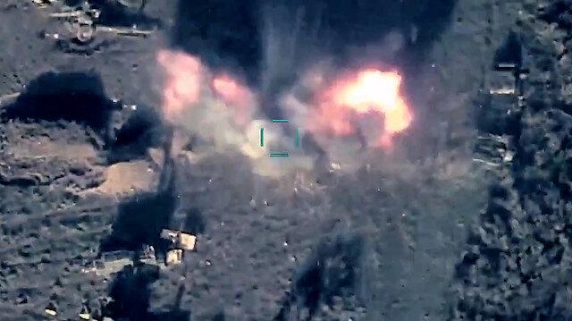 Azerbaycan ordusu, sivillere saldıran işgalci Ermenistan güçlerini SİHA'larla imha etti