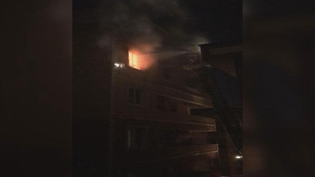 Eyüpsultan'da 4 katlı binada yangın