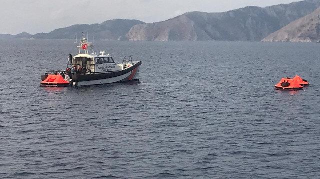 Yunanistan'ın Türk kara sularına ittiği 23 göçmen kurtarıldı