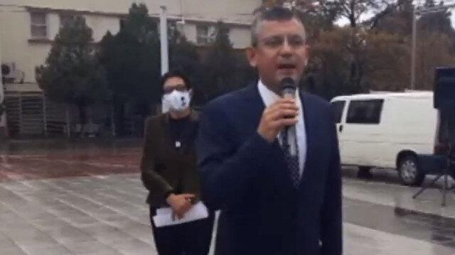 CHP Grup Başkanvekili Özel: İzmir Marşı'nı okuyunca yağmur yağmayı kesti yolumuz aydınlandı