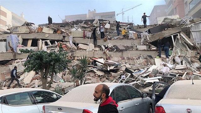 İzmir'deki depremden ilk görüntüler