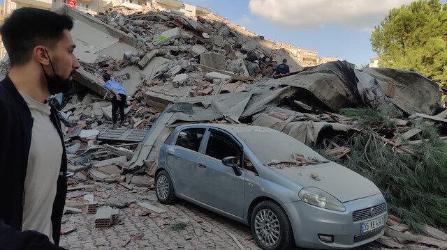 İçişleri Bakanı Soylu: Şu ana kadar İzmir Bornova ve Bayraklı'da 6 binanın yıkıldığı ihbarı geldi