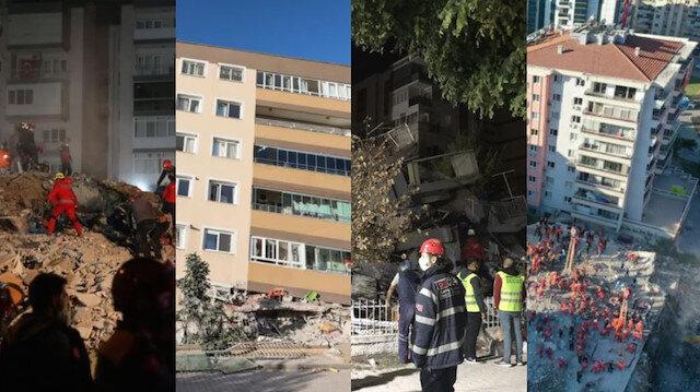 91 kişiye mezar oldu: İşte İzmir'de yıkılan binaların önceki ve sonraki hali