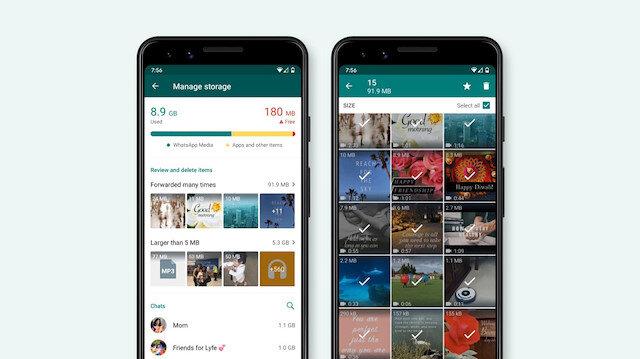 WhatsApp'ın yeni depolama aracı hayata geçiyor