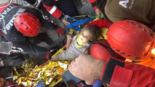 91'inci saatte mucize: Rıza Bey Apartmanı'nda bir bebek kurtarıldı