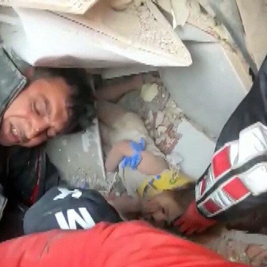 3 yaşındaki Ayda bebeğin depremden 91 saat sonra bulunduğu o an