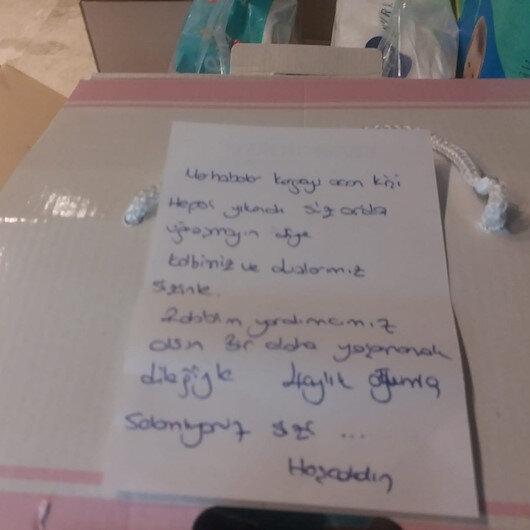 İzmir'deki deprem için gönderilen yardım kolisindeki not: Hepsi yıkandı, siz orada uğraşmayın