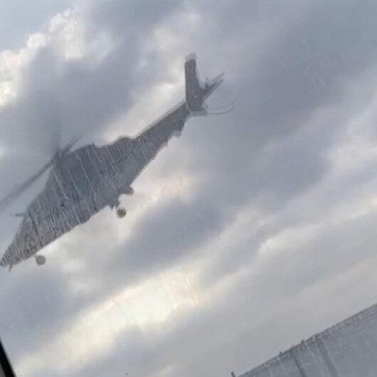 ABDde donör kalp taşıyan ambulans helikopterin yere çakılma anı kamerada