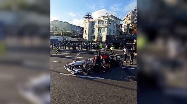 Formula1 İstanbul'da yolda kaldı