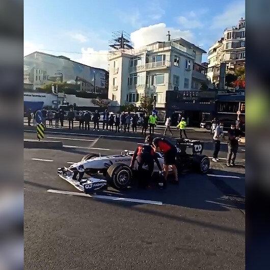 Formula1 İstanbulda yolda kaldı