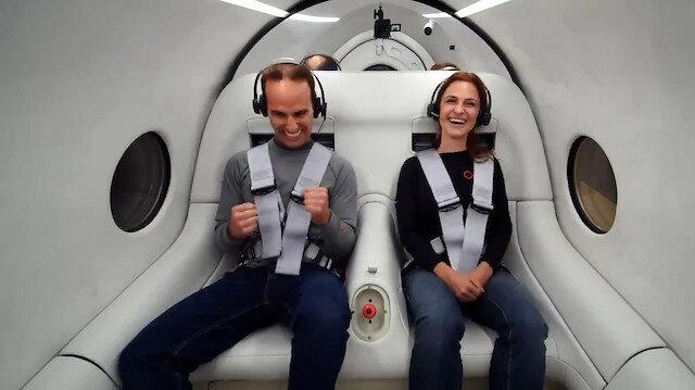 Virgin Hyperloop ilk insanlı test sürüşünde saatte 172 kilometre hıza ulaştı