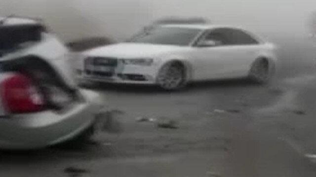 Konya'da sis sonrası karayolu savaş alanına döndü