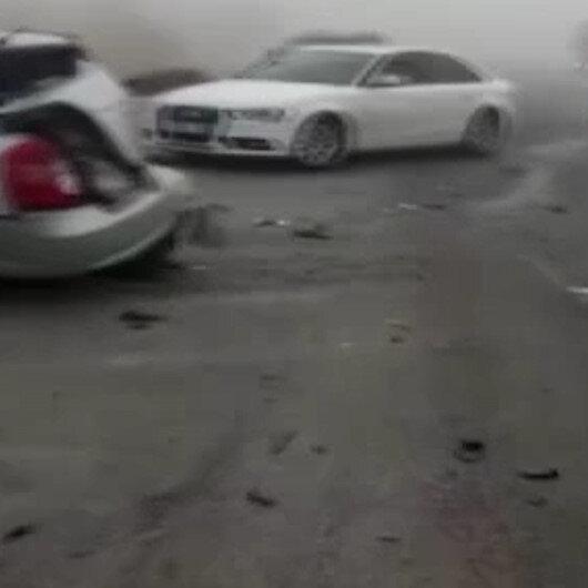 Konyada sis sonrası karayolu savaş alanına döndü