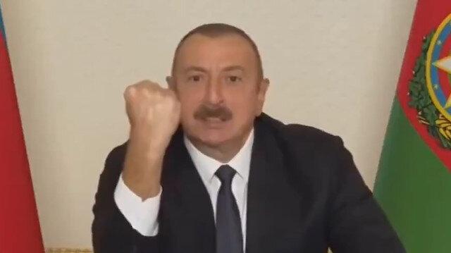 İlham Aliyev'den tarihi zafer konuşması: Paşinyan anlaşmayı korkakça imzalayacak