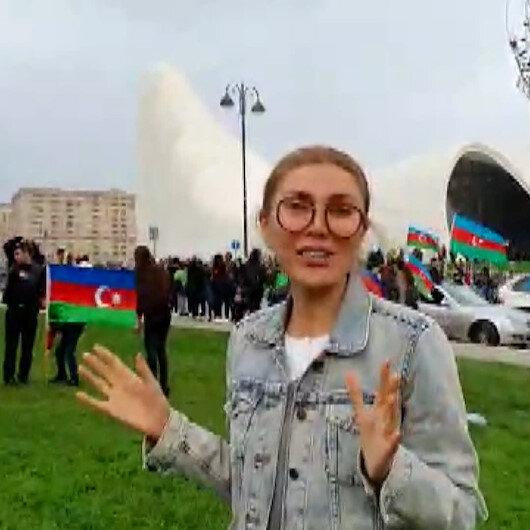 Şarkıcı Doğuşun Azerbaycanlı gazeteci eşinin zafer sevinci: Görmediğim köyüme gideceğim