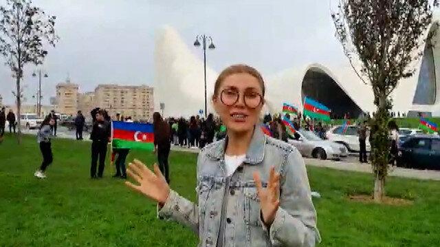 Şarkıcı Doğuş'un Azerbaycanlı gazeteci eşinin zafer sevinci: Görmediğim köyüme gideceğim