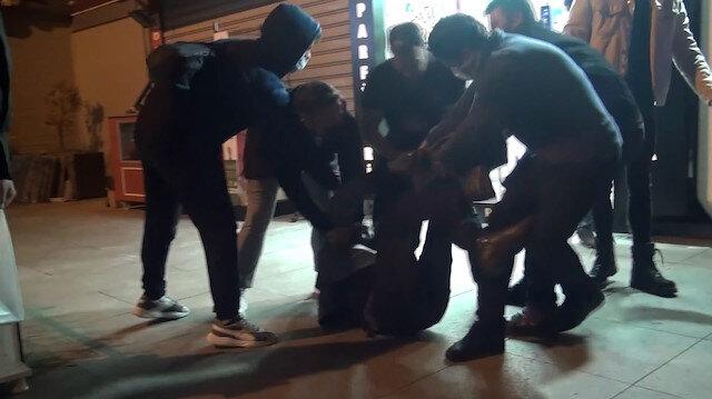 Fatih'te market hırsızına meydan dayağı kamerada
