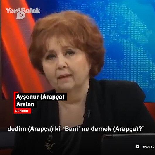 Cumhurbaşkanı Erdoğanın Arapça bani kelimesini kullanmasını eleştiren Halk TV Sunucusu Arslan 2 dakikada 41 Arapça kelime kullandı